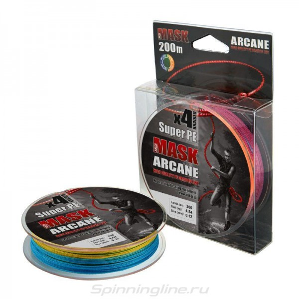 Леска плет. AKKOI X4 - 200m(multi color) d 0.14mm	5.44 кг