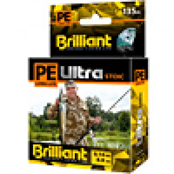 Плетеный шнур PE Ultra Brilliant Stoic Ultra Yellow 135 m 0.20 mm
