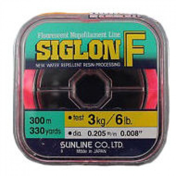 Леска SUNLINE SIGLON ICE FISHING 50M красная #5/0.370mm