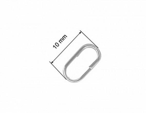 Кольца заводные  6025 (A-elita), диам. 10 мм, тест 10 кг, в упак. 10 шт