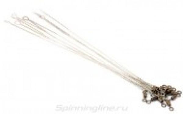"""Поводок струна с вертлюгом """"Spinningline"""" 15см 0,4мм 17кг (упак. 10шт.)"""