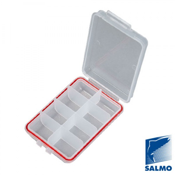 Коробка водонепр. Salmo Waterproof 8 ячеек 1501-02