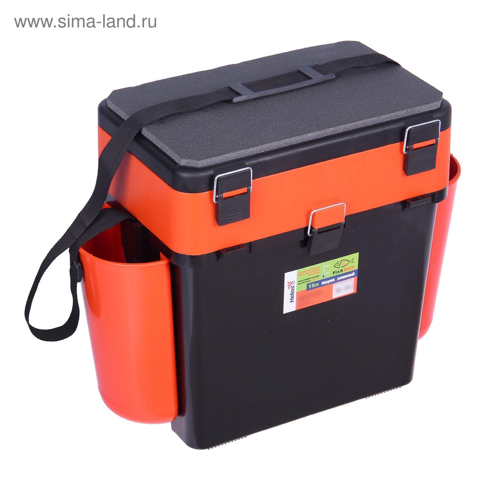 Зимний ящик FishBox (19л) зел.оранж.(Helios)