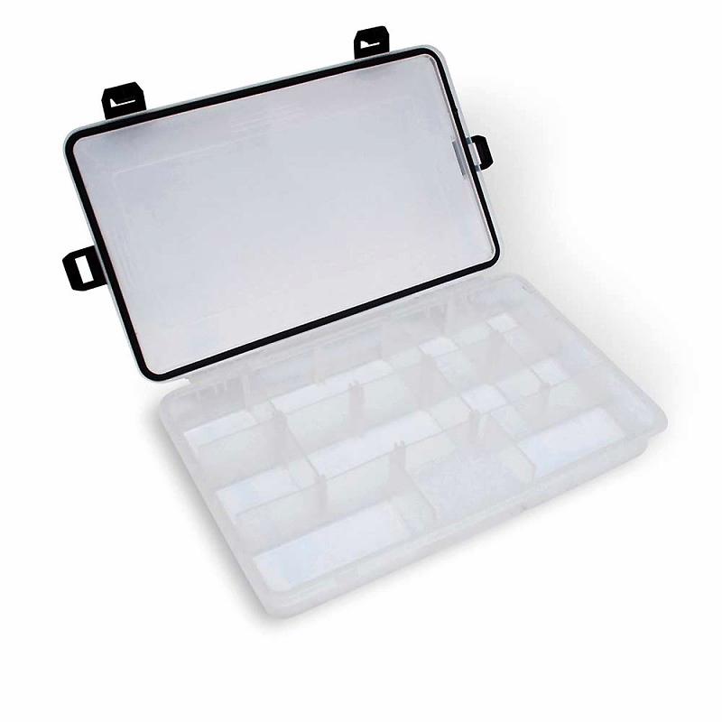 Коробка для рыболовных принадлежностей Quantum Waterproof Tackle Box #M, размер 27,5х17,5х4,7 см