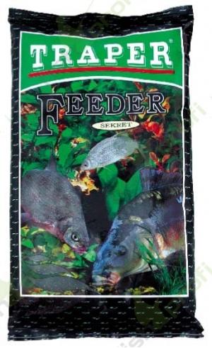 """Прикормка """"TRAPER"""" 00023 Feeder black (Фидер чёрный) 1 кг"""