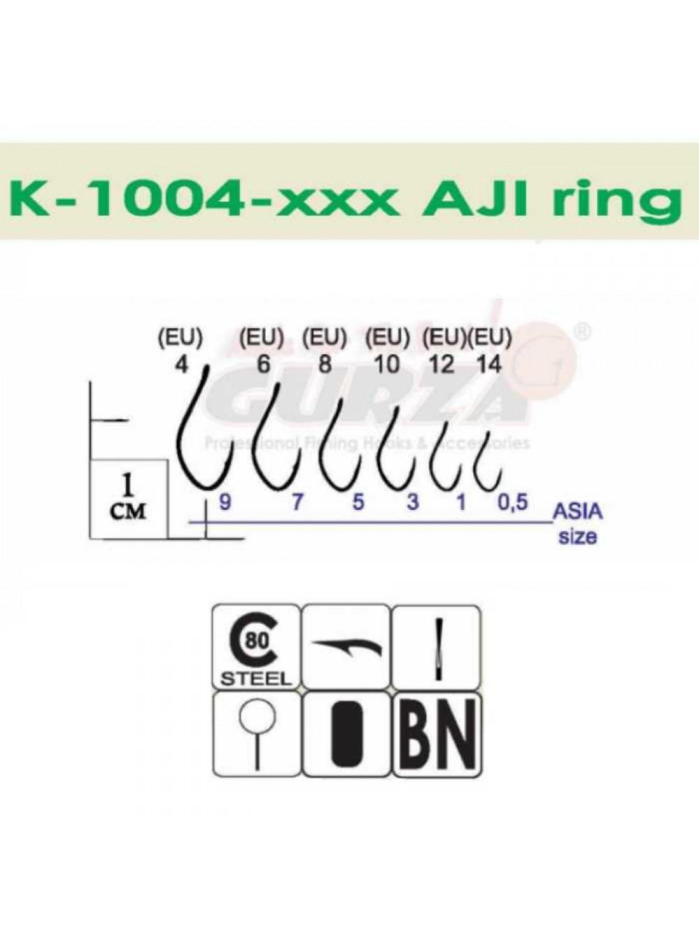Крючки Gurza - AJI Ring BN #12 10 шт/уп.