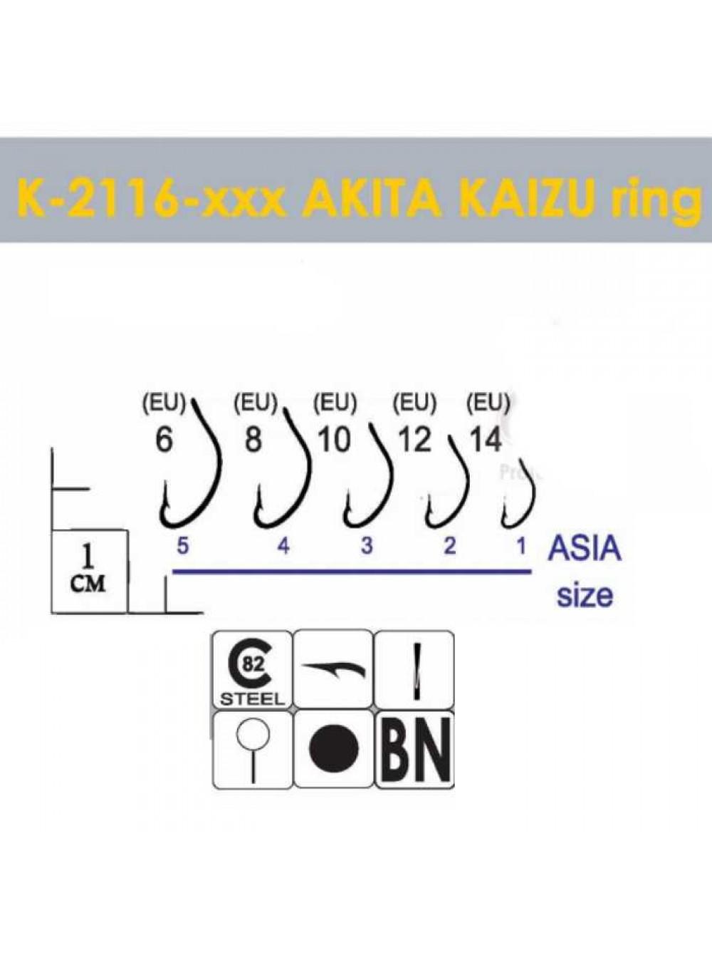 Крючки Gurza - AKITA KAIZU Ring BN #14 10 шт/уп.