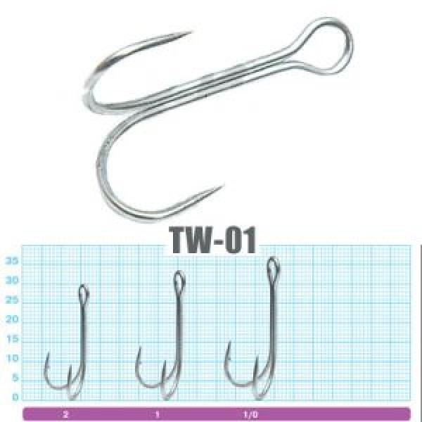 Двойной крючок OWNER TW-01BC//1/0 длинное цевье, 8 шт.уп.